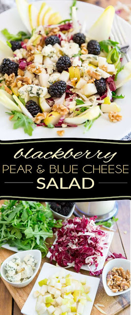 Blackberry Pear and Blue Cheese Salad