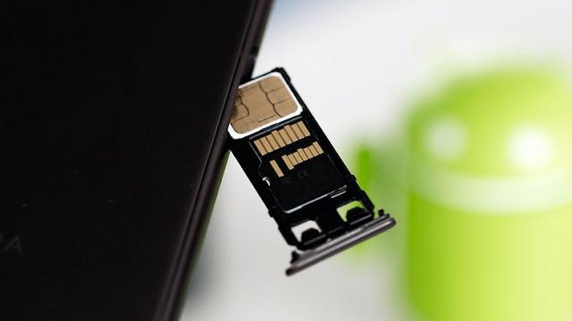 مدخل بطاقة سيم