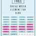 FREE 45 Social Media Element For Blog | Freebie yay!