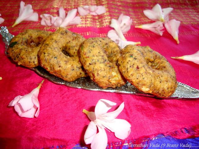 images of Navarathan Vadai / Navaratna Vadai / Navarathna Vada / Mixed Dal Fritters / 9 Beans Vadai