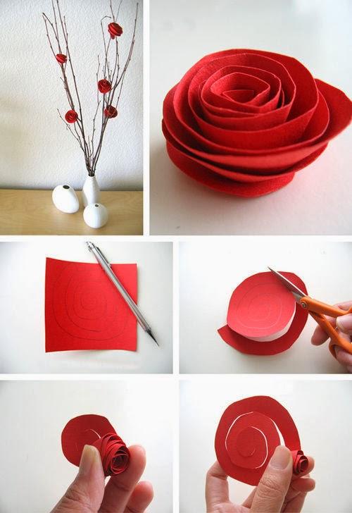 Origami Bunga Mawar Cantik dengan Daun Bagian 1 - Origami unik | 728x500