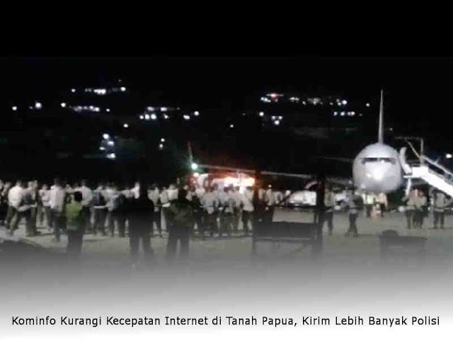 Kominfo Kurangi Kecepatan Internet di Papua, Kirim Lebih Banyak Polisi