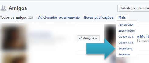 Como saber quem me segue no Facebook