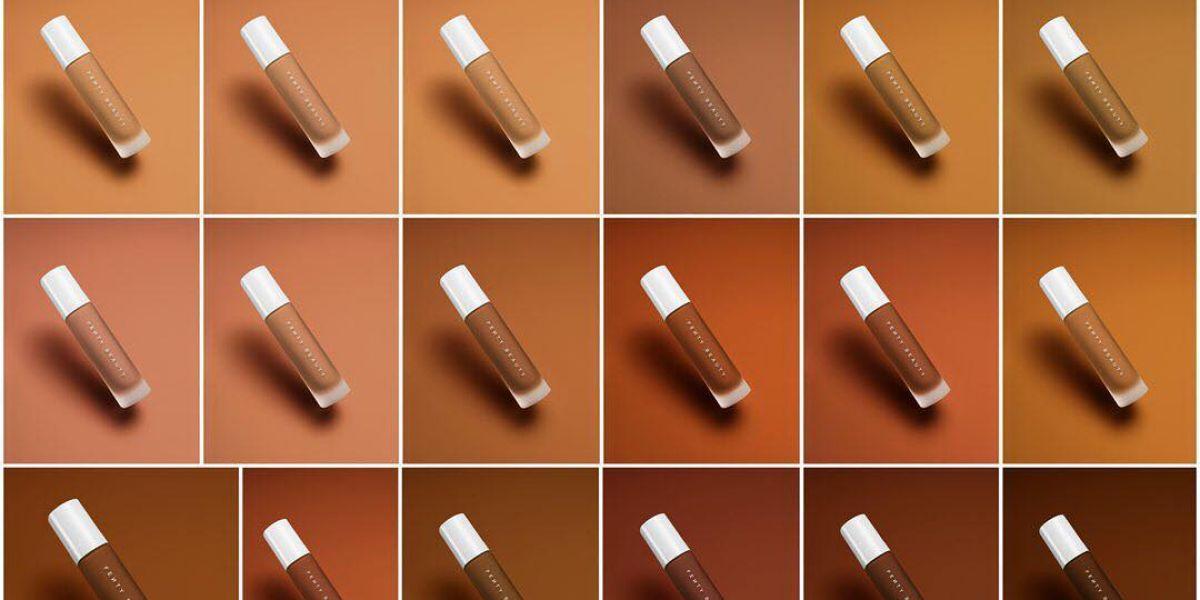 Fenty Beauty's 40 shades of foundation