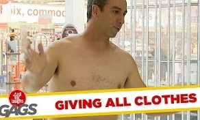 Funny Video – Guy Gets Naked For Donations