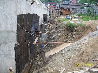 waterproofing membrane bakar pada dinding