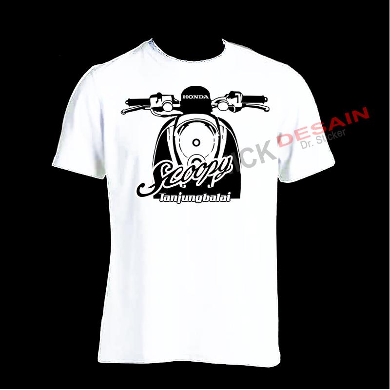 Sablon Kaos - T-shirt Motif Scoopy
