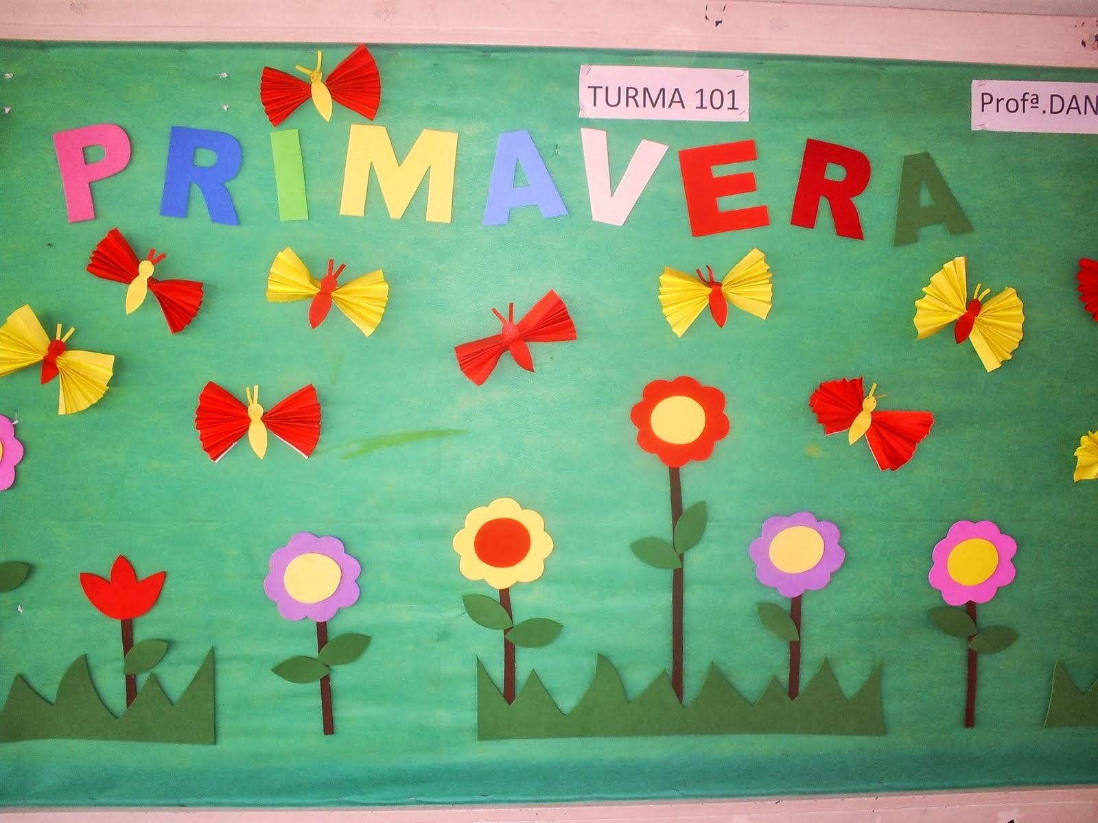 El arte de educar murales para la primavera for Como decorar un mural