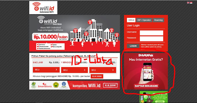 cara login wifi.id tanpa password