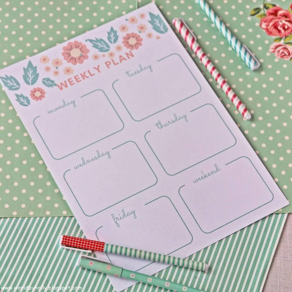 planer tygodniowy, lista to do, lista do planowania, organizacja czasu