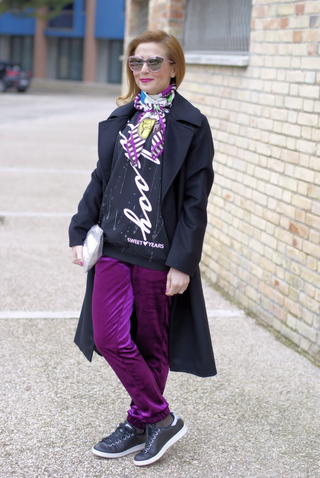 Sweet Years sweatshirt, Max Mara Zic coat on Fashion and Cookies fashion blog, fashion blogger style