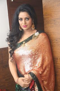 Udaya Bhanu lookssizzling in a Saree Choli at Gautam Nanda music launchi ~ Exclusive Celebrities Galleries 077.JPG