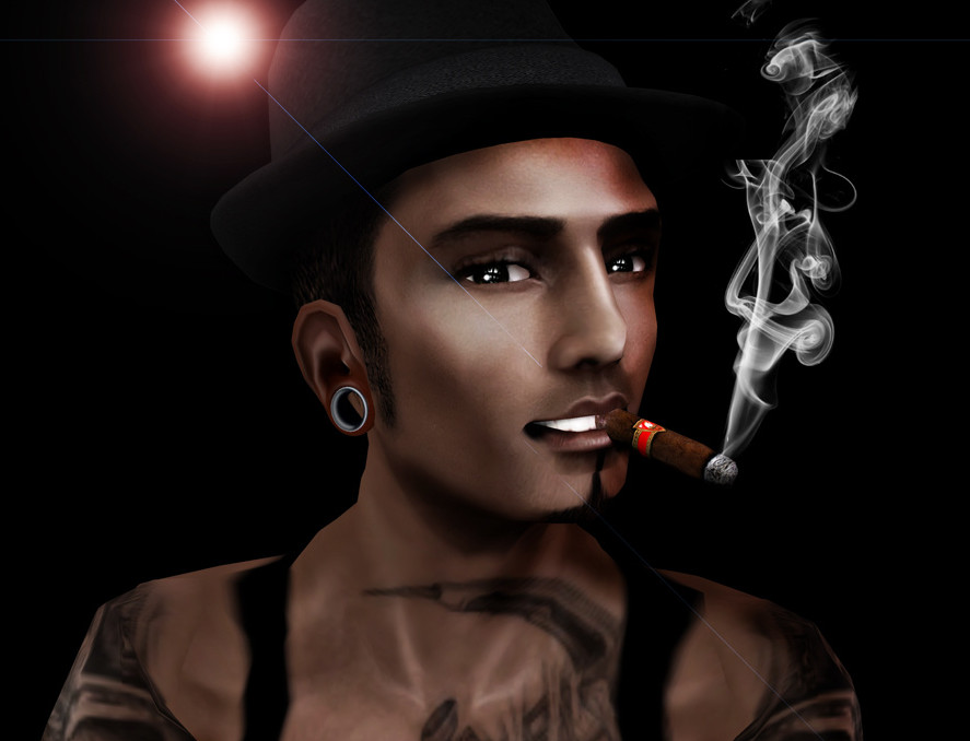 Cigar Smoking Hunks: CIGAR ART