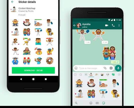 WhatsApp cricket sticker update - 2019 iPL, whatsapp new update 2019