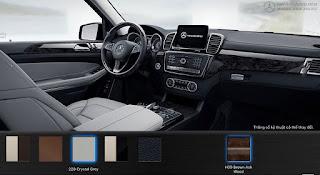 Nội thất Mercedes GLS 500 4MATIC 2017 màu Xám Crystal 228