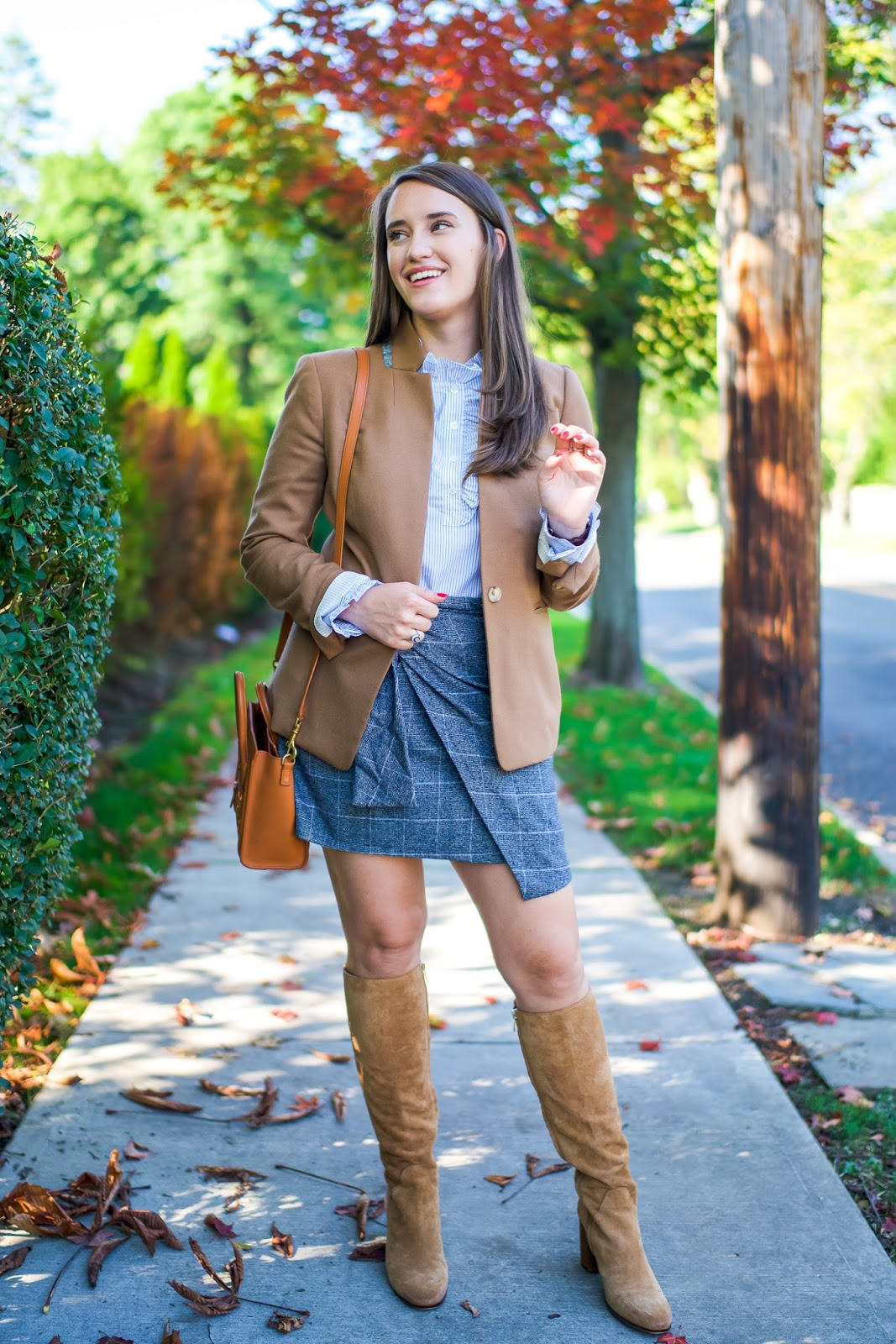 A New Plaid Skirt For Fall New York City Fashion And