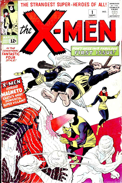 X-men v1 #1, 1963 marvel silver age comic book cover art by Jack Kirby