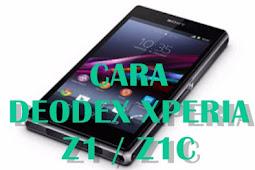 Cara Deodex Sony Xperia Z1 / Z1C 5.1.1