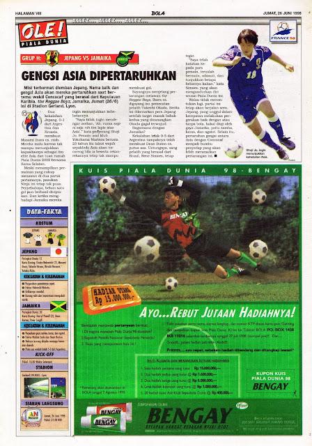 WORLD CUP 1998 JAPAN VS JAMAICA
