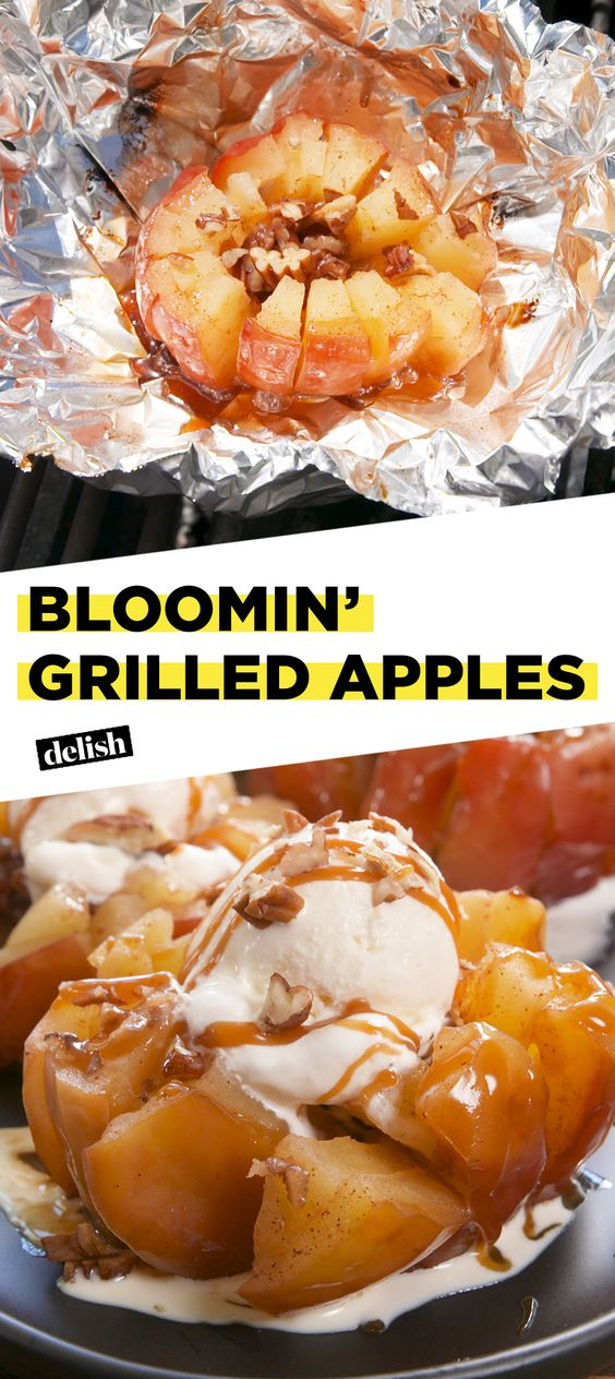 ★★★★☆ ratings    | Bloomin' Grilled Apples #Bloomin #Grilled #Apples #Dessert