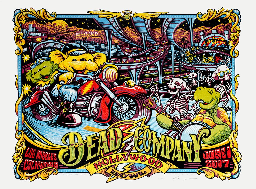 inside the rock poster frame blog dead and company aj mashay hollywood bowl posters release. Black Bedroom Furniture Sets. Home Design Ideas