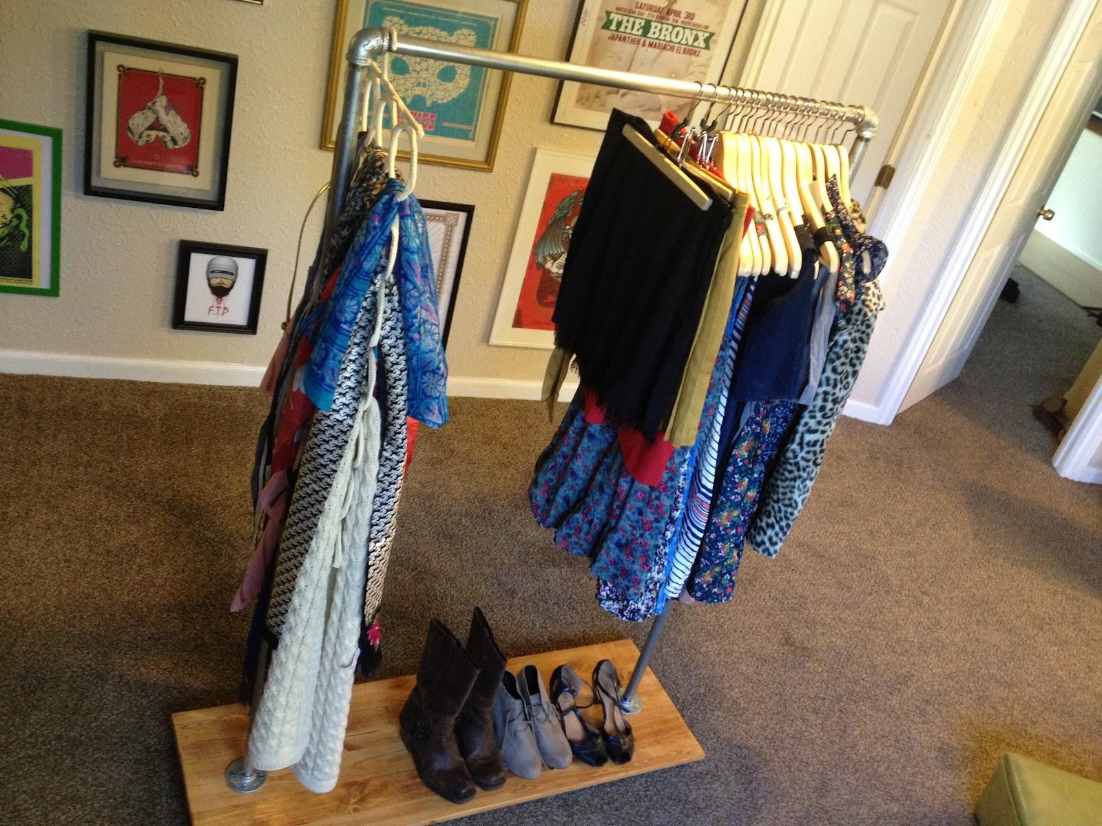 Get Rich Or Diy Tryin Industrial Clothing Rack