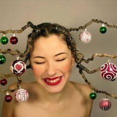 Peinados navideños humor