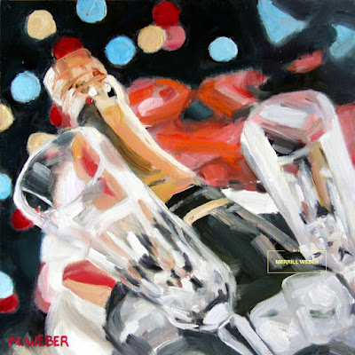 Champagne Toast oil painting by artist Merrill Weber