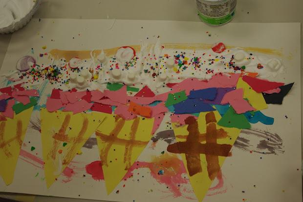 Wayne Theibaud- Pop Art Ice Cream Cones Preschool Picasso