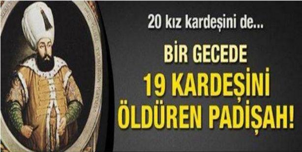Padişah Mehmed Reşad; III. Mehmet bir bebek katilidir