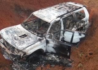 Veiculo furtado em Ivaiporã é encontrado incendiado em Manoel Ribas