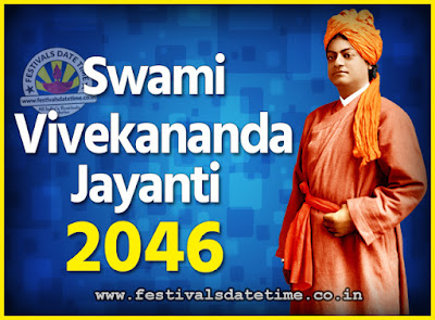 2046 Swami Vivekananda Jayanti Date & Time, 2046 National Youth Day Calendar