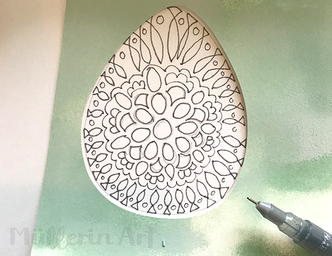 Mandala im Skizzenbuch nach ©müllerinart