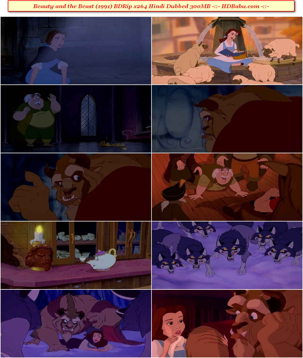 Beauty and the Beast Hindi Dubbed Full Movie Download