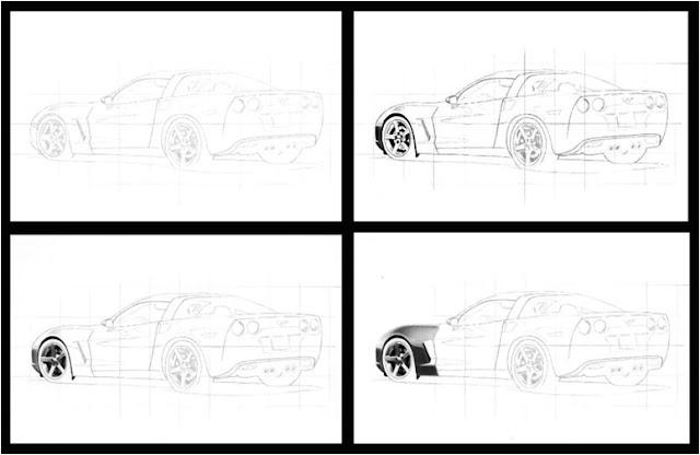karakalemle araba nasıl çizilir