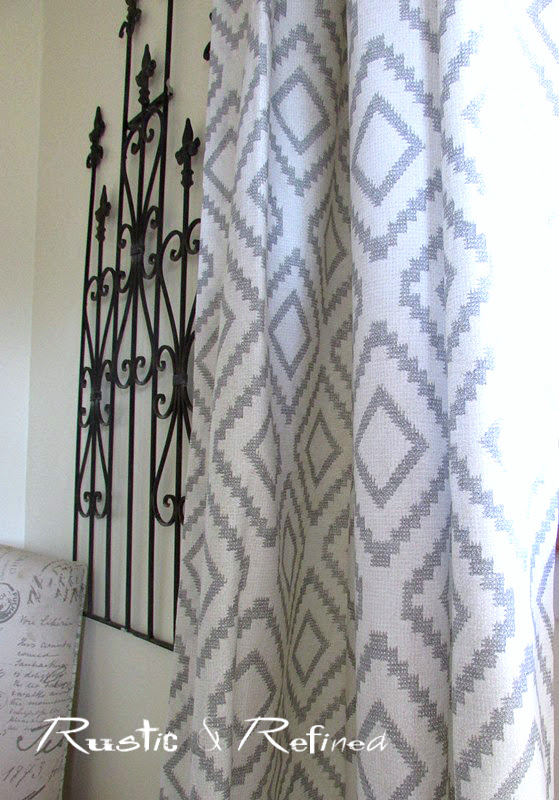 New Curtains - Updating a Room on a Budget