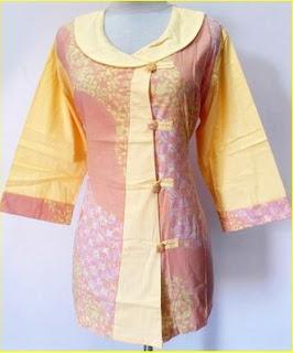 Gaun Batik 2 Warna Untuk Remaja