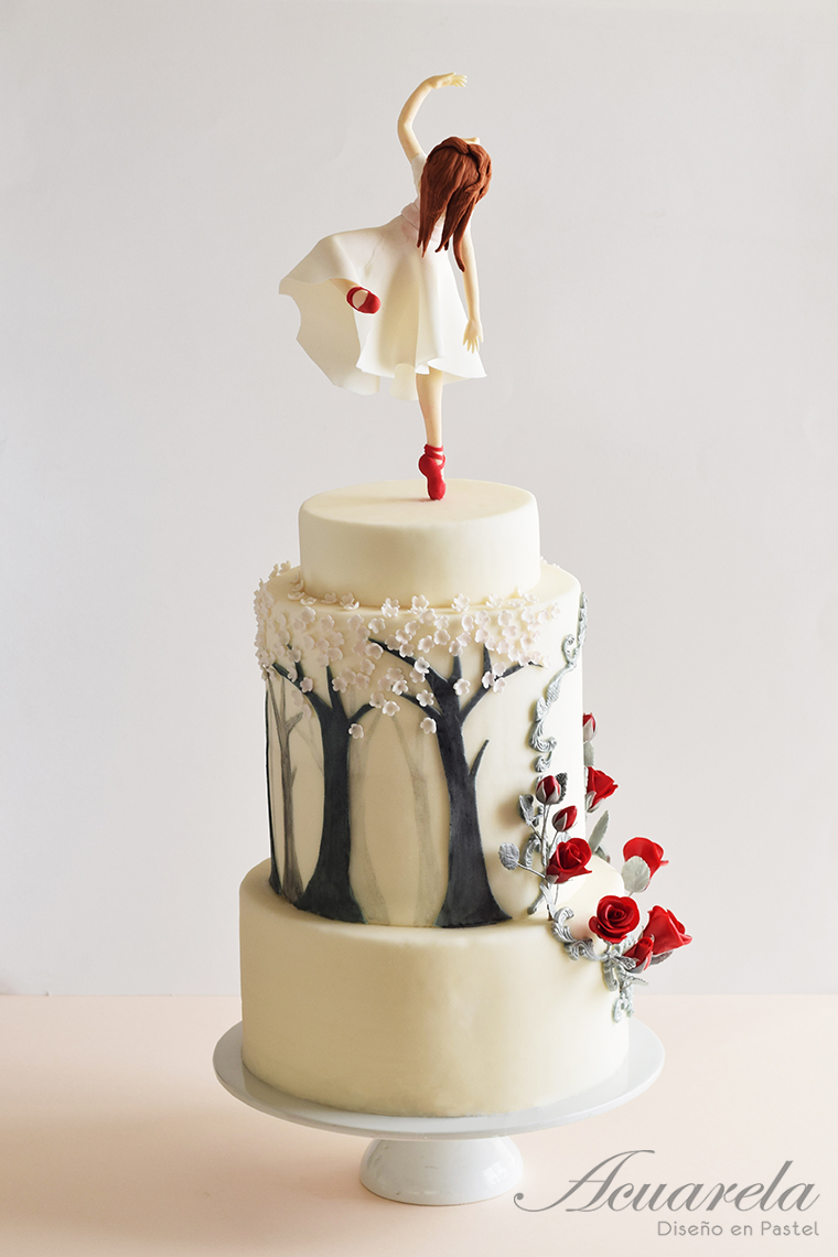 Red shoes ballet cake