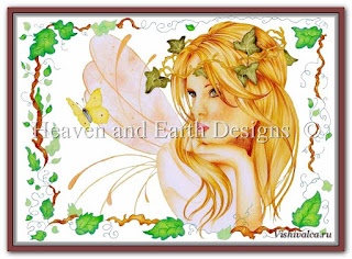 Cross stitch chart «KAM 107 Dreaming - artwork by Karen Middleton»