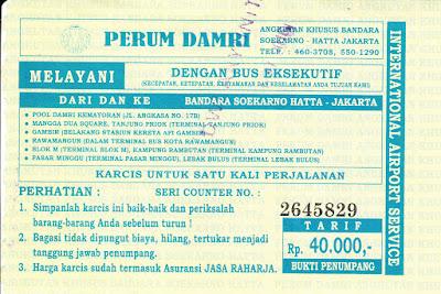 Damri Pasar Minggu Bandara Soekarno Hatta