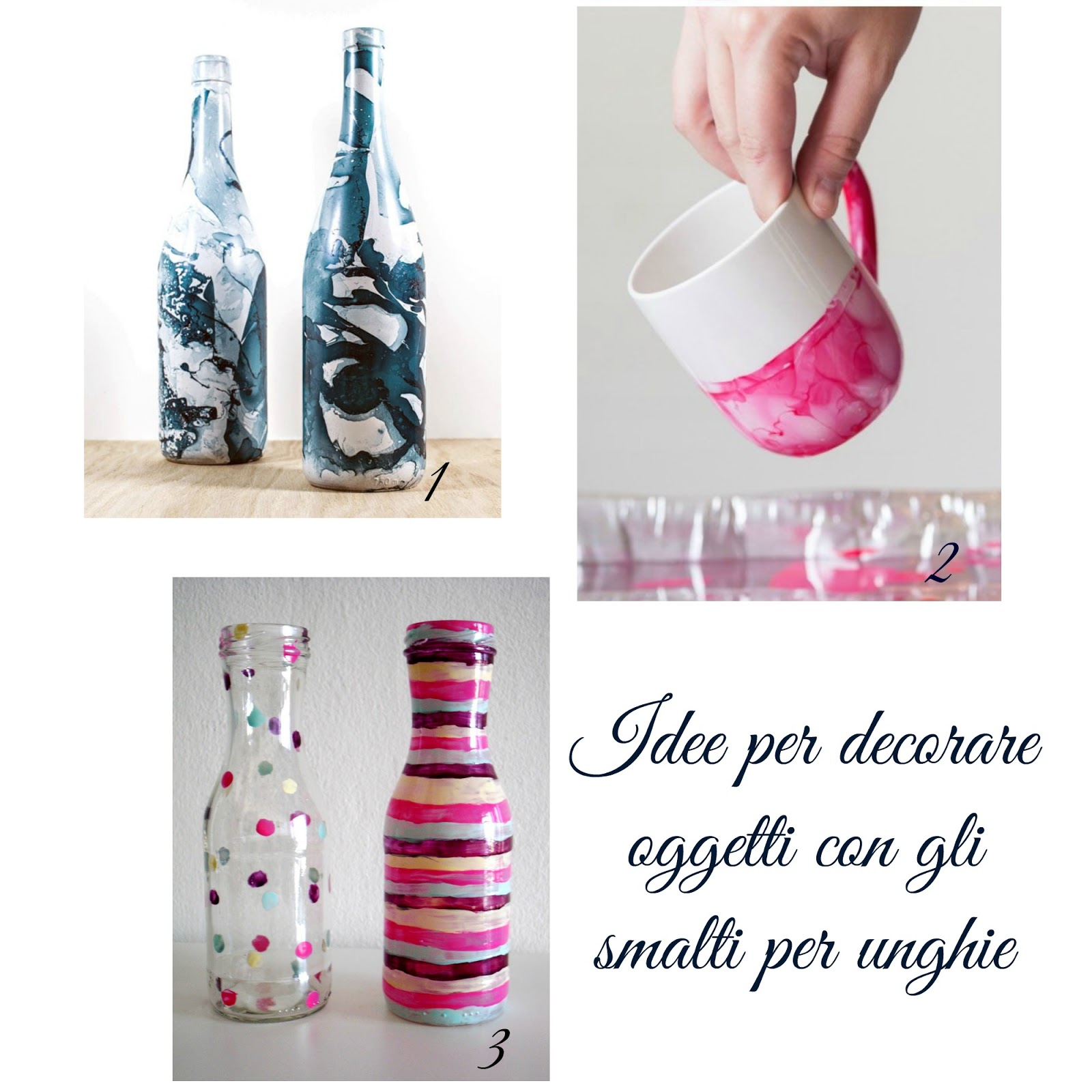 382e6cf38e Idee per decorare oggetti con gli smalti per unghie | donneinpink ...