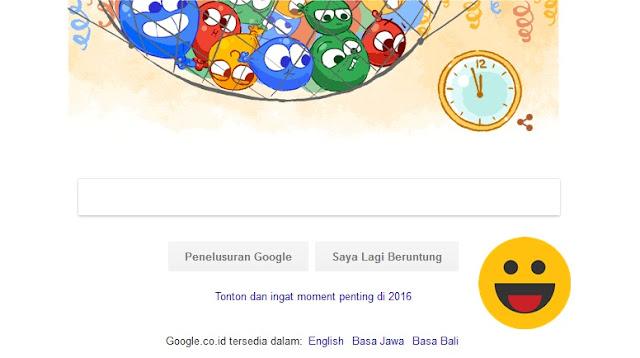 Malam Tahun Baru, Google Rayakan Dengan Doodle Balon Lucu