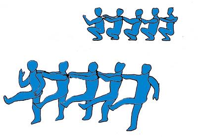 Salto alto atletismo juegos carrera gusanitos saltarines