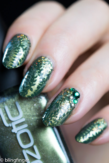 Green Holo Nail Art