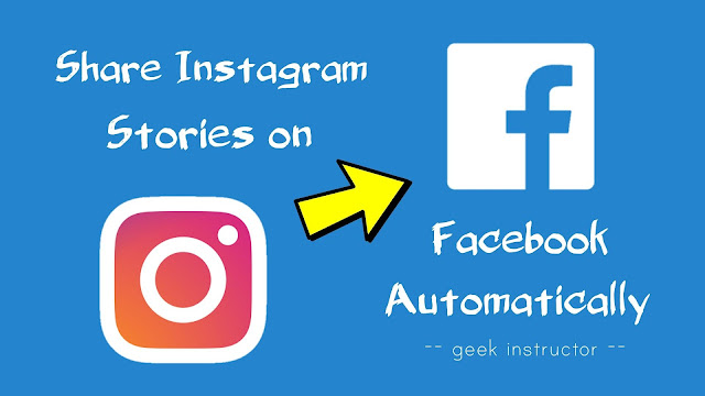 Share Instagram stories on Facebook account automatically