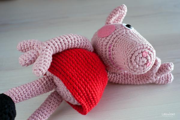Peppa Pig · Lua | Häkeln spielzeug muster, Schwein häkeln und ... | 400x600