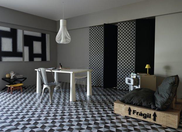 piso geom trico tend ncia 11 salas decoradas decor