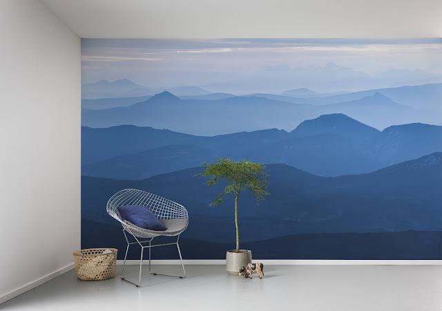 sinised mäed, fototapeet