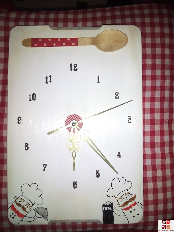 como hacer un reloj de cocina