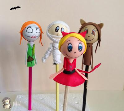 Fofulápices de Halloween